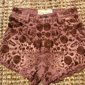 Free People Etienne Field high waisted shorts